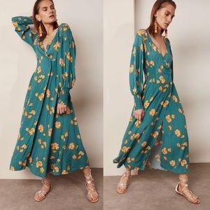 Free People So Sweetly Long Sleeve Midi Dress